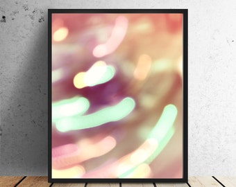Bokeh Photography, Instant Download, Abstract photography, printable poster, by East Auklet Modern
