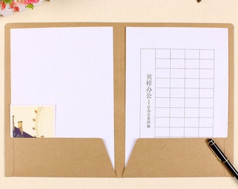 Upgraded* Made Your Own Recycled 400g A4 Kraft Paper Folder - 4pcs