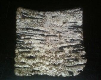 Textural raku tile