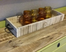 reclaimed wood box for table display centerpiece candle holder tray
