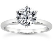 1.00CT Forevr Brilliant and Forever Classic Moissanite Engagement Ring