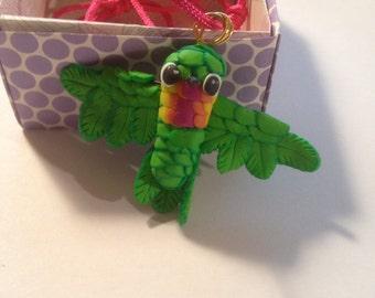 Cute Handmade Hummingbird Pendant