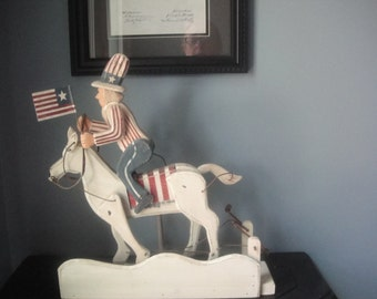 Vintage Patriotic Horseman