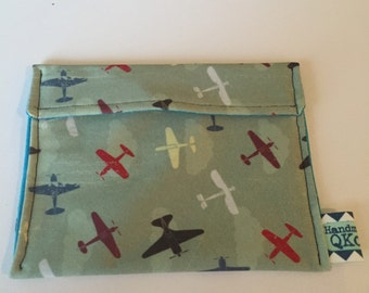 Reusable Snack Bag - Airplanes