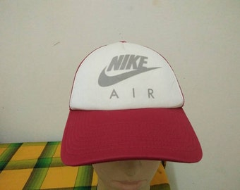 Rare Vintage NIKE AIR   Nike Big Logo   Nike Swoosh Cap Hat Free size fit all