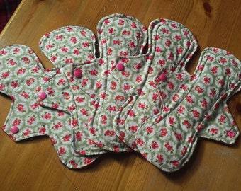 5 New cloth sanitary pads.