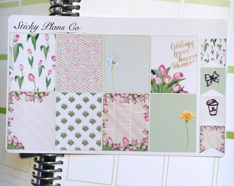 Hello Spring/ Full Boxes  / Perfect for the Erin Condren Life Planner