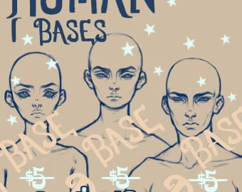PDF: Human Bases (3-pack [Male, Female, & Androgynous])