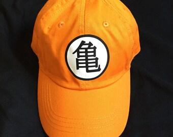 orange vintage hat