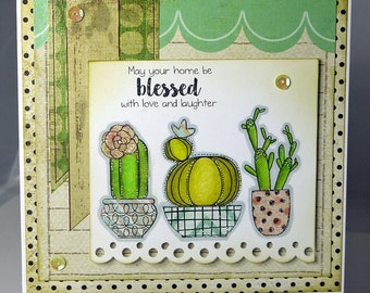 May Your Home Be Blessed With Love And Laughter Handmade Card