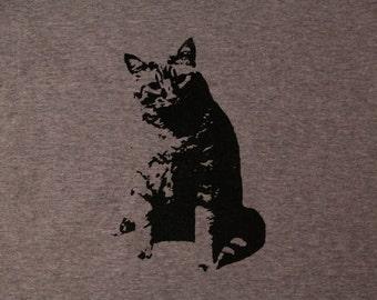 Cat silhouette tshirt