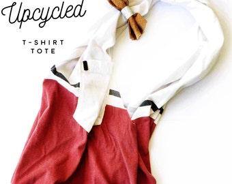 Upcycled tshirt tote bag