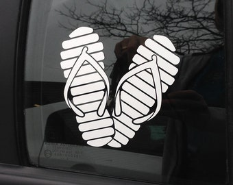 White Flip Flops Decal