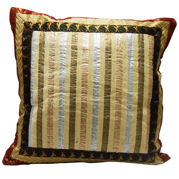 Indian Gift Cushion Cover Home Decor Traditional Style Pillow Case Antique Single Cover Throw ...