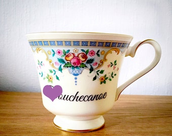 D*uchecanoe | Custom Made To Order  Swear Teacup | Funny Rude Insult Obscenity Profanity | Unique Gift Idea