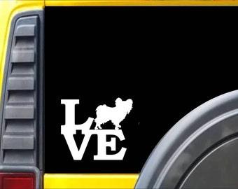 Papillon Love Window Decal Sticker *J526*