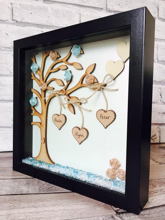 Family Tree Frame Personalised Family Tree Gift Frame Family