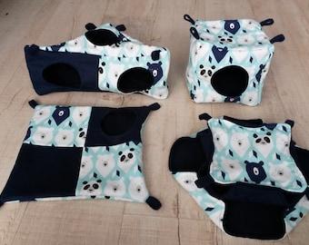 High quality, polar bear set, handmade hammocks for rats or other small rodents, sugar gliders, ferrets, chinchillas,