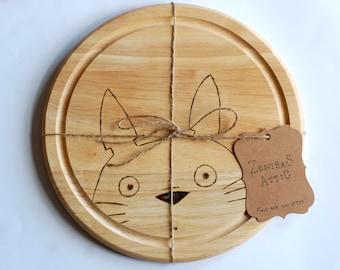 My Neighbour Totoro Chopping Board  - Studio Ghibli - Kitchen - Wooden - Eco - Utensils - Cheese Board - cutting board - Kitchenware - Chop