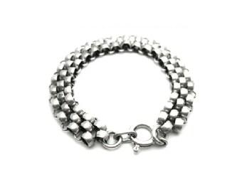 Victorian Silver Bracelet   Antique Silver Bracelet   Silver Bracelet   Chain Bracelet   Chain Bracelet   Statement Bracelet