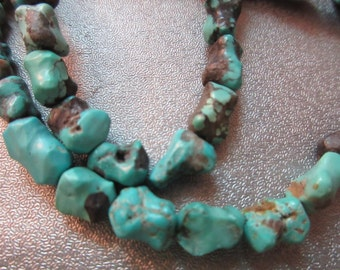 Turquoise Nuggets Beads 43pcs
