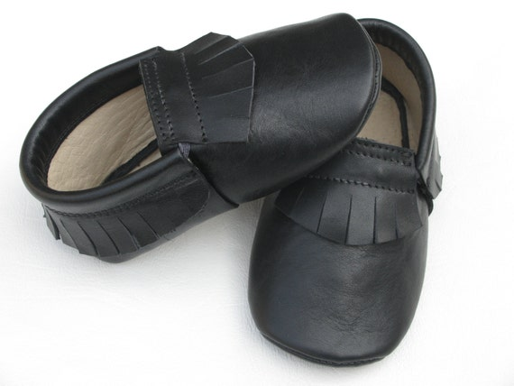 Toddler/Little Kid/Big Kid Genuine Leather Cowhide Suede Moccasin Slippers