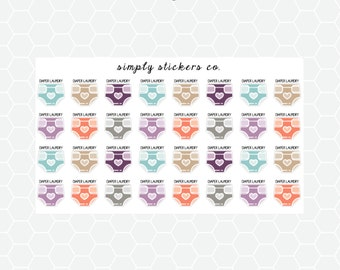 Diaper Laundry Planner Stickers