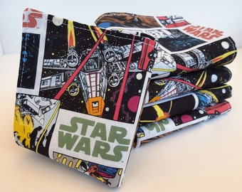 Lunch Box Napkins, Set of 5, Star Wars Comic Strips Napkins, Cloth Napkins, Stocking Stuffers, Reusable, School Lunch by Sew4MyLoves