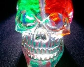 Colored Brain Crystal Skull
