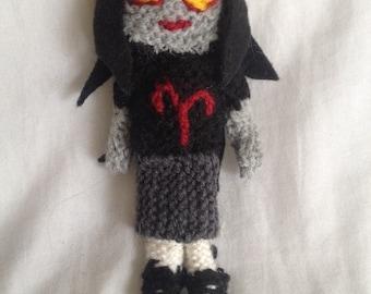 aradia megido knitted doll homestuck troll aries