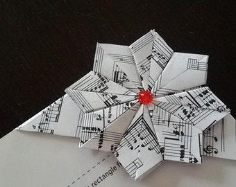 musical origami bookmark bookmark/music/music paper