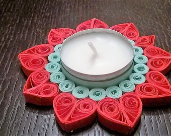 candel candle holder/Christmas/Christmas/christmas/quilling/placeholder placeholder/christmas present/quilled christmas