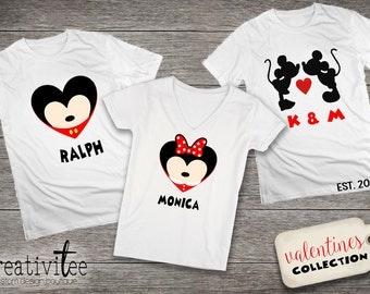 Valentine's Day Disney custom shirt