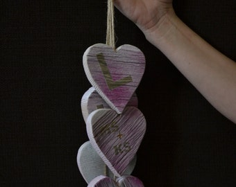 Customized Dangling Hearts Decor