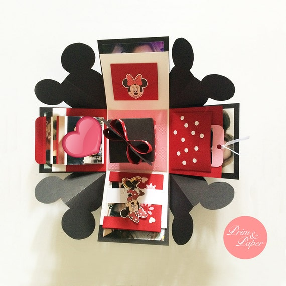 Minnie Mouse Explosion Box // Minnie Exploding Box // Disney