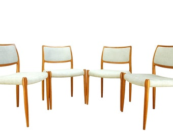 Niels Otto Moller 'model 80' teak dining chairs.