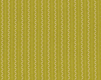 SALE 1 YARD CUT Denyse Schmidt Fabric Ansonia Fine Stripe Mossy for FreeSpirit Fabrics