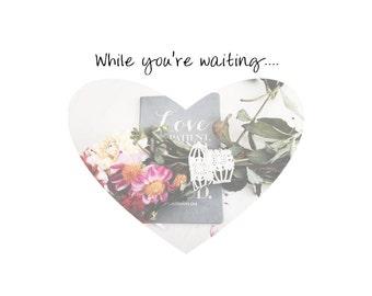 Encouragement-Handmade Greeting Card-Faith - While you're waiting