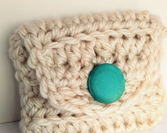 Plump and Chunky Crochet Clutch Pattern Downloadable PDF