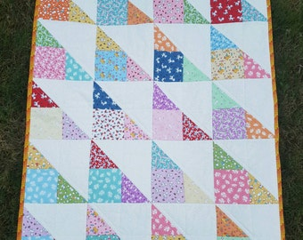 Toy Chest baby quilt, toddler quilt, lap quilt, snuggle quilt, ispy quilt, homemade quilts, sofa quilt, throw quilt, crib quilt, baby gift