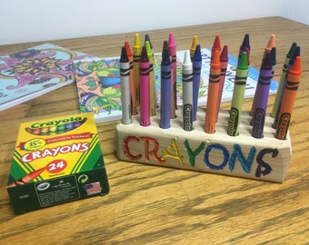 Reclaimed Wood Crayon Holder