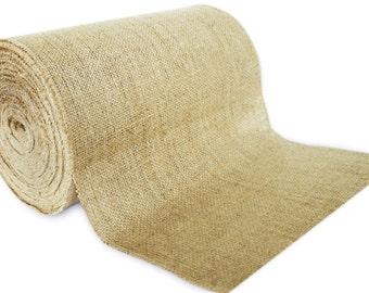 "No Fray 50 Yards - 12"" Premium Burlap Roll -- Eco-Friendly Natural Jute Burlap Fabric Table Runner Placemat Fabric"