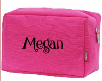Jute Large Cosmetic Travel Bag