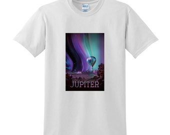 NASA Visions of the Future Jupiter Tshirt Space Travel Posters Space T-shirts Science Sci-Fi Fashion Birthday Present Gifts for Men NASA Tee