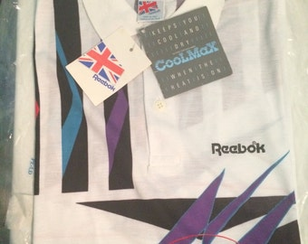 Very Very Rare! Vintage Polo T Shirt Tennis Reebok Michael Chang 90 s new! New! VHTF!