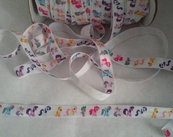 Restocked! My Little Pony 5/8 Fold Over Elastic ~FOE~ You Choose 2,3,5 Yards. Headband Supplies Diy FOE