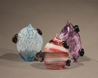 Set of Glass Petal Sculptures