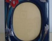 Vintage Ceramic Floral Photo Frame, Vintage Picture Frames, Ceramic Picture Frames, Gift Idea