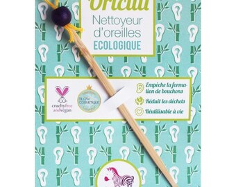 Lamazuna MAUVE - q-tip reusable bamboo - cleaner ears Oriculi eco-friendly - replacing wadding sticks