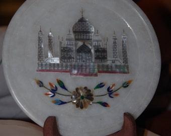 Marble souvenir plate